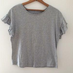 Falls Creek Gray Ruffle T Shirt